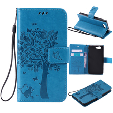 Buy coque Sony Xperia Z3 Mini case Fundas Sony Z3 Compact Case Z3 Mini D5803 M55W phone cases Tree Cat Flip Cover Leather for $3.64 in AliExpress store