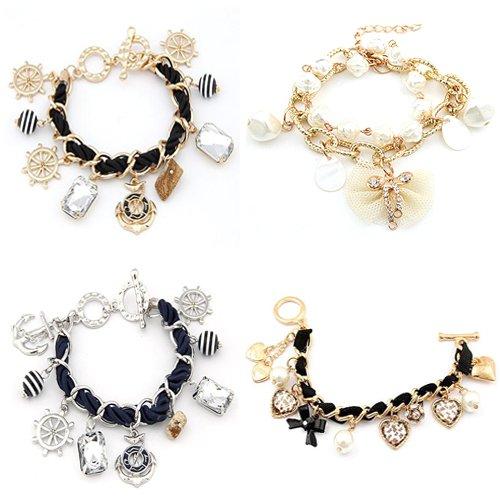 produto Discount DHL& B2B Wholesale 24pcs/lot  Mixed Fashion Bracelets / Beads Bracelets / Charm Bracelets - 120412 -3