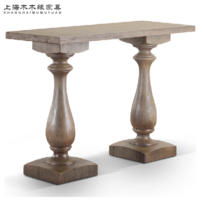 Cheap american village entrance station simple antique wood side tables dining hall sofa back - Cheap entrance table ...