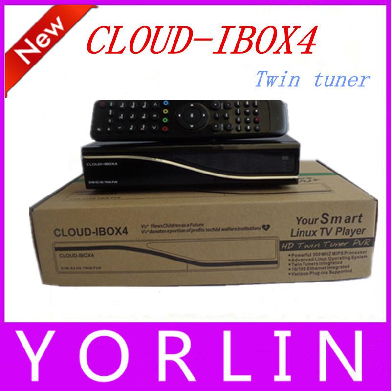 Free Shipping 3pcs/lot Cloud Ibox4 Digital Satellite Receiver Twin Tuner Cloud Ibox4 400 MHz MIPS Processor Cloud Ibox4 Linux OS(China (Mainland))