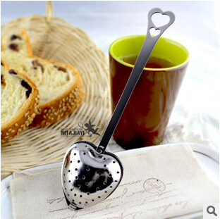 New 100 pcs Heart Shaped Filter Tea Balls Stainless Steel Tea Strainers Oblique Tea Stick Tube Tea Infuser Steeper H-48(China (Mainland))