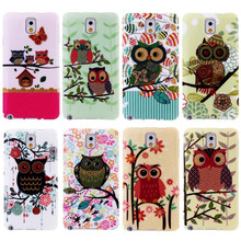 New Cartoon Owl Model Hard Case Cover mobile phone Cover Casefor Samsung Galaxy Note3 Cartoon case Covers Phone Case BSJK0168