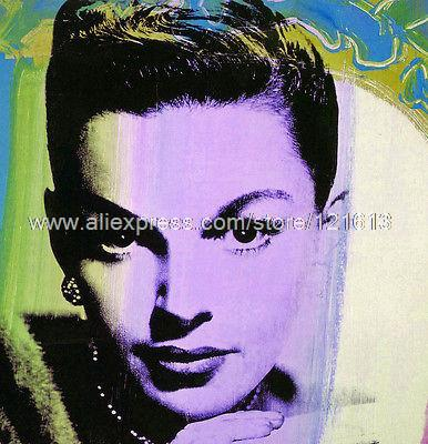Judy Garland Purple Hand Painted Abstract Art Huge Wall Painting Bed Room Background Free Shipping(China (Mainland))