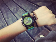 Cute Fashion Digital LED Stop Watch Rubber Watch Wristwatches Gift Hours for Women Girls Children Black