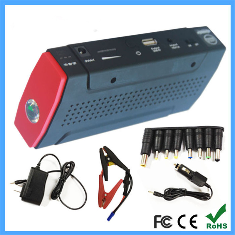 Free shipping High Quality 12V Portable Jump Starter 13800mAh Car Jumper Booster Power Battery Charger Mobile Phone Laptop(China (Mainland))