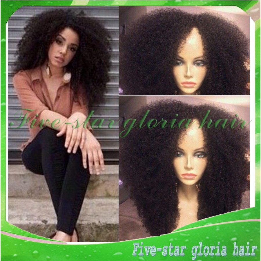 Best quality 7a 100% real wigs glueless afro kinky lace front brazilian bleached knots black women - Five-star Gloria hair products Co.,LTD store