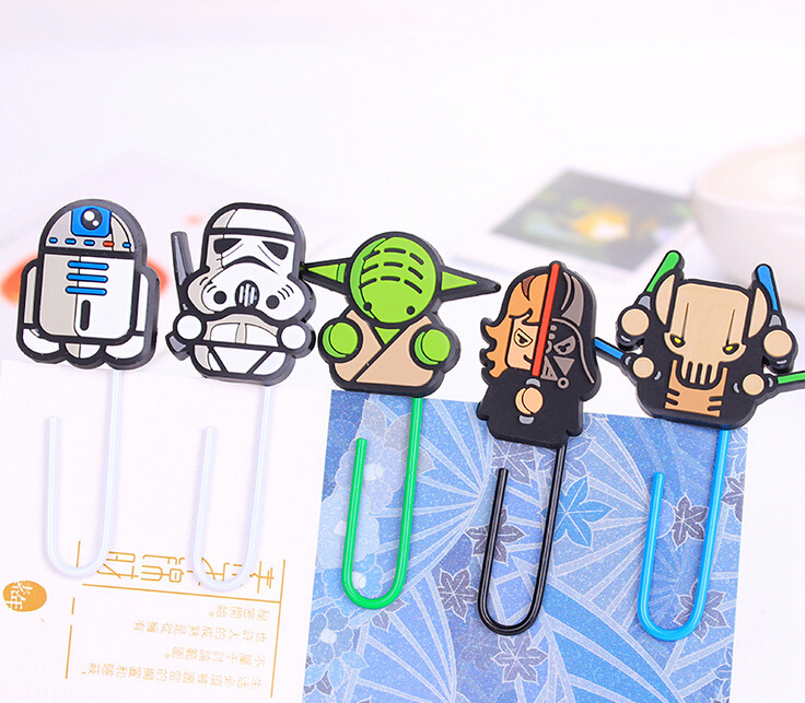 Novelty Star Wars Paper Clip Bookmark Promotional Gift Stationery School Office Supply Escolar Papelaria(China (Mainland))