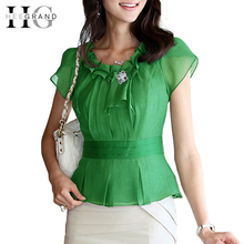 Summer Style Women Blouses Short Sleeve Ruffles Slim Chiffon Blouse Blusas 3 Colors With Petal WCX355(China (Mainland))