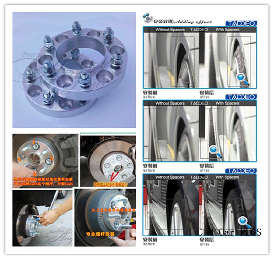 A pair (2),35 mm, 6 x139.7 hole 106 mm, wheel adapter, spacers, for Toyota Landcruiser Prado / J90,FJ Cruiser,4 Runner,sequoia(China (Mainland))