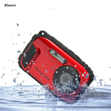 Free Shipping 16MP Digital Camera Underwater 10m Waterproof Camera 8X Zoom 2.7 Inch LCD Cameras
