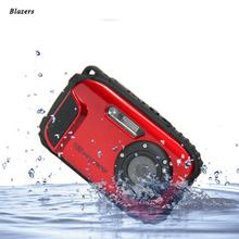 Free Shipping 16MP Digital Camera Underwater 10m Waterproof Camera 8X Zoom 2.7 Inch LCD Cameras
