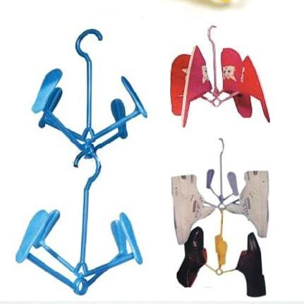 1 piece Home Storage Organization Bathroom Shelves Hanging Shoe Rack Socks Insoles Nice Creative household items plastic clip(China (Mainland))