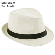 Summer Style Child Sun hat Beach Sunhat Fedora hat Trilby Straw panama Hat boy girl Gangster Cap Fit For Kids Children Women Men(China (Mainland))