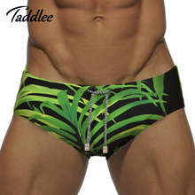 Taddlee Brand Europe Size Men Swimwear Sexy Mens Swim Brief Swimming Bikini Penis Pouch WJ Enhance Front Pocket Inside Swimsuits