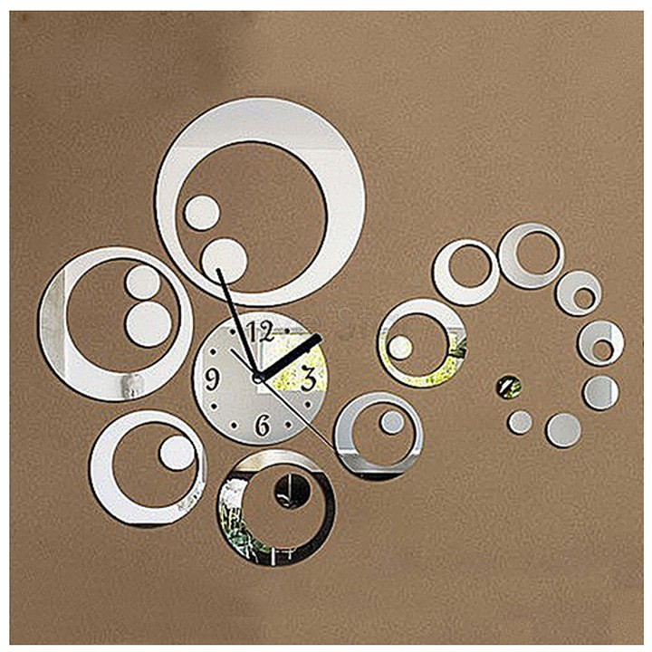 Diacount 3d Mirror Surface Wall Stickers Home decoration Sticker Set Art Fashion Geometric Heart Clock Dial Thick Plastic 31(China (Mainland))