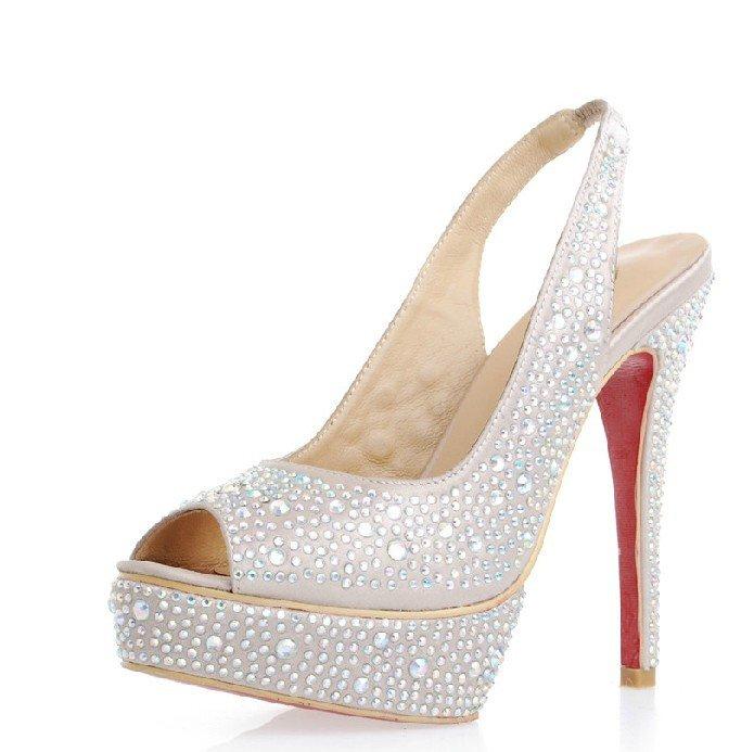 star the same bride wedding shoes crystal high heels shoes. Black Bedroom Furniture Sets. Home Design Ideas