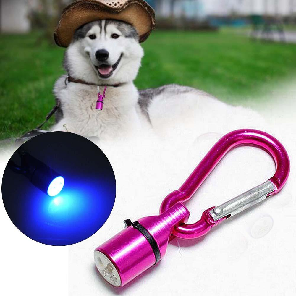 Aluminum Dog Cat Pet Safety Red Flashing LED Light Collar Tag Waterproof Rose APE(China (Mainland))
