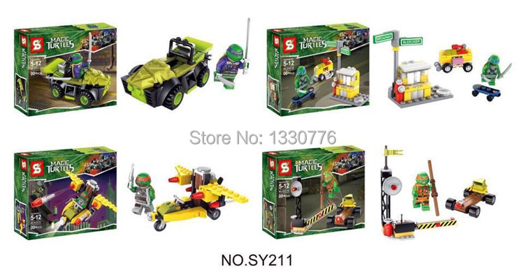 SY211 Avenger Super Hero Teenage Mutant Ninja Turtles Leo/Raph/Don/Mikey Building Block Toys Compatible Lego