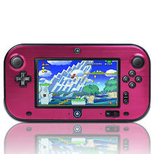 Pink New Hard Aluminium + Plastic Skin Case Cover Box Shell For Nintendo Wii U Gamepad Remote Controller