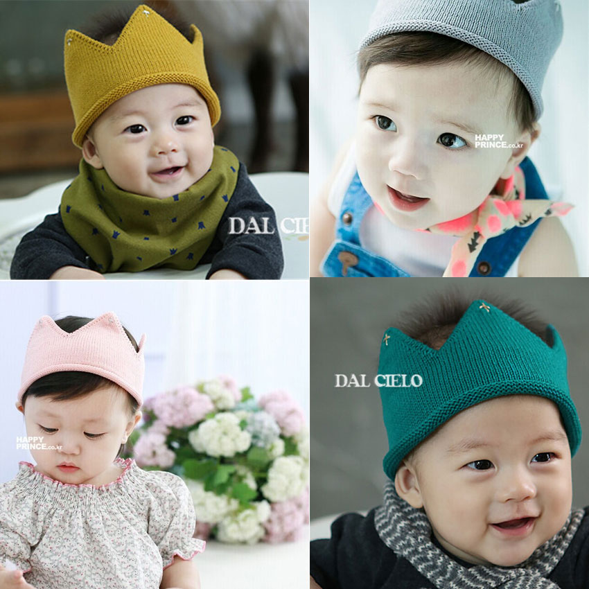 Quality Cheap Baby Girl Kids Knitted Crown Headband Lovely Hair Accessories(China (Mainland))