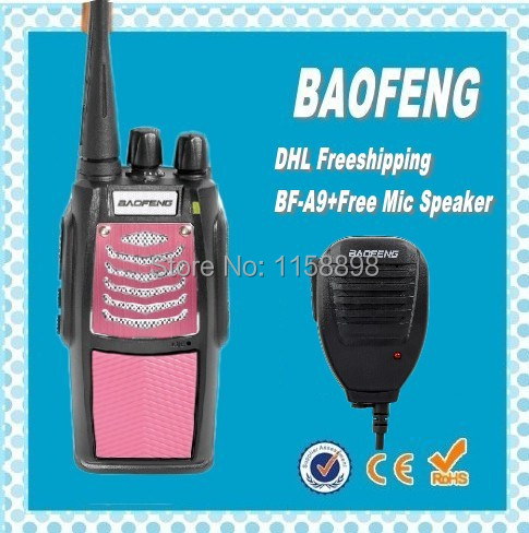 DHL free ship+Portable Digital BaoFeng BF-A9 Radio Walkie Talkie FM Transceiver with Flashlight 400-470MHz Interphone+microphone(China (Mainland))