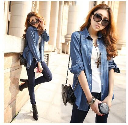 Женские блузки и Рубашки 2014New женские джинсовые рубашки 2014
