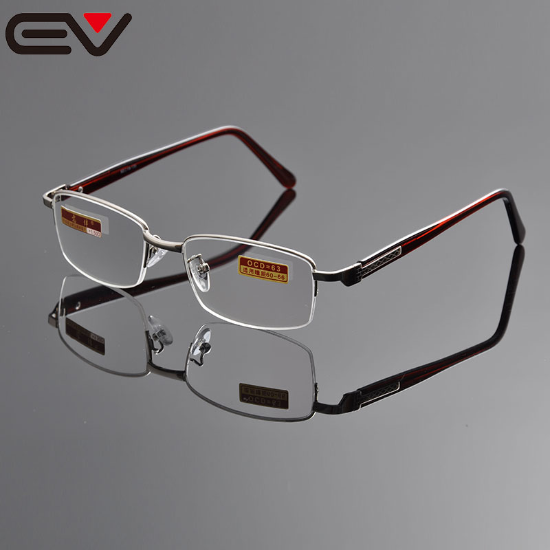 Reading glasses diopter semi rimless reading glasses men round reading glasses with case +1.0 +1.5 +2.0 +2.5 +3.0 +3.5+4.0EV1097(China (Mainland))