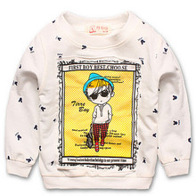 2015 New Autumn Cute Mouse Pullover Long Sleeve Moleton Infantil Kid Hoodies Fashion Children Pullover KT614R(China (Mainland))