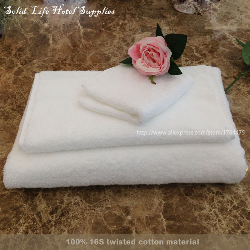 3PCS Wholesale Luxury White 100% 16S twisted Pakistan cotton Towel Set Five Star Hotel Bathing Towels Free Shipping SOLID LIFE(China (Mainland))