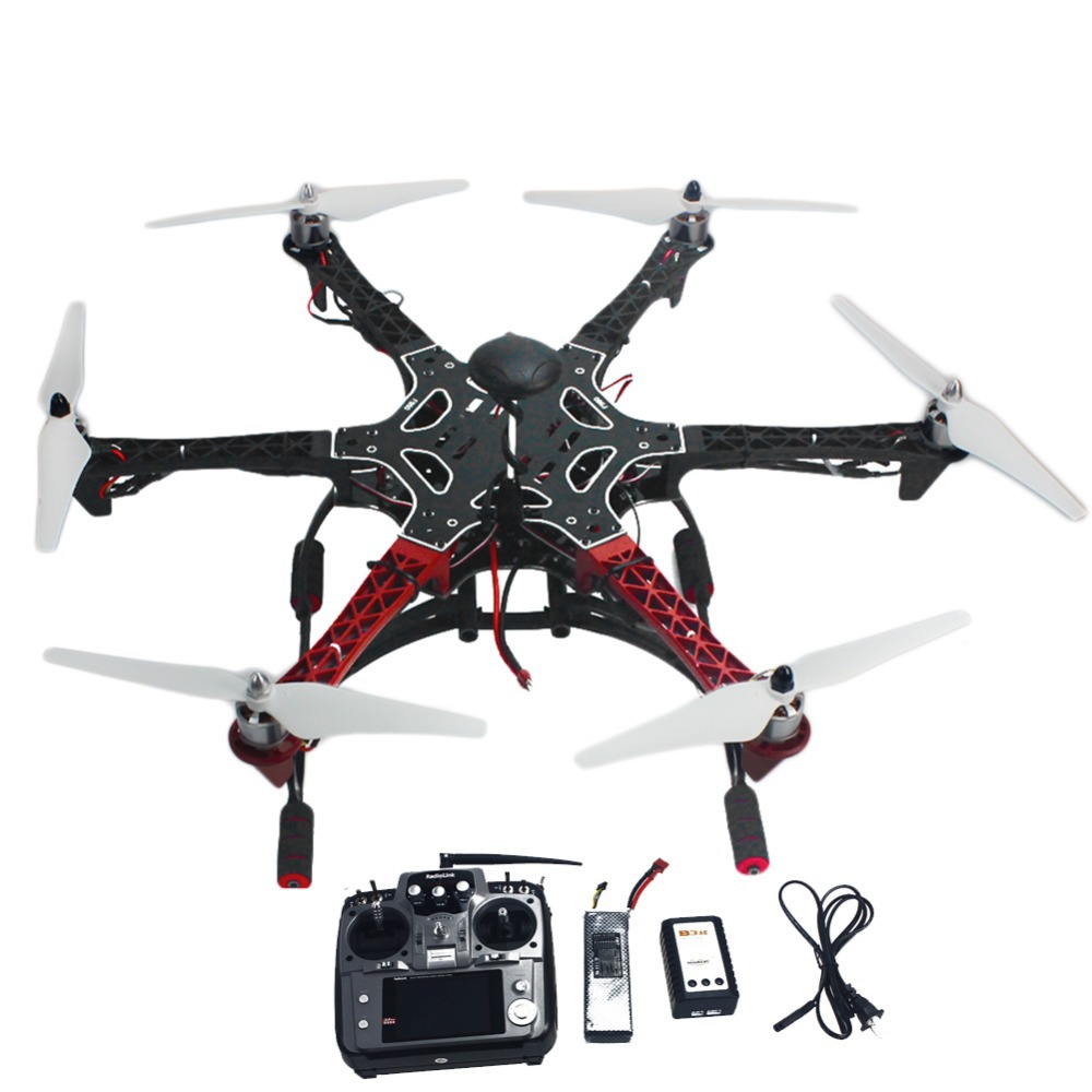 6-axis RC Aircraft Hexacopter Helicopter RTF Drone with AT10 TX/RX 550 Frame GPS APM2.8 Flight Controller Battery<br><br>Aliexpress