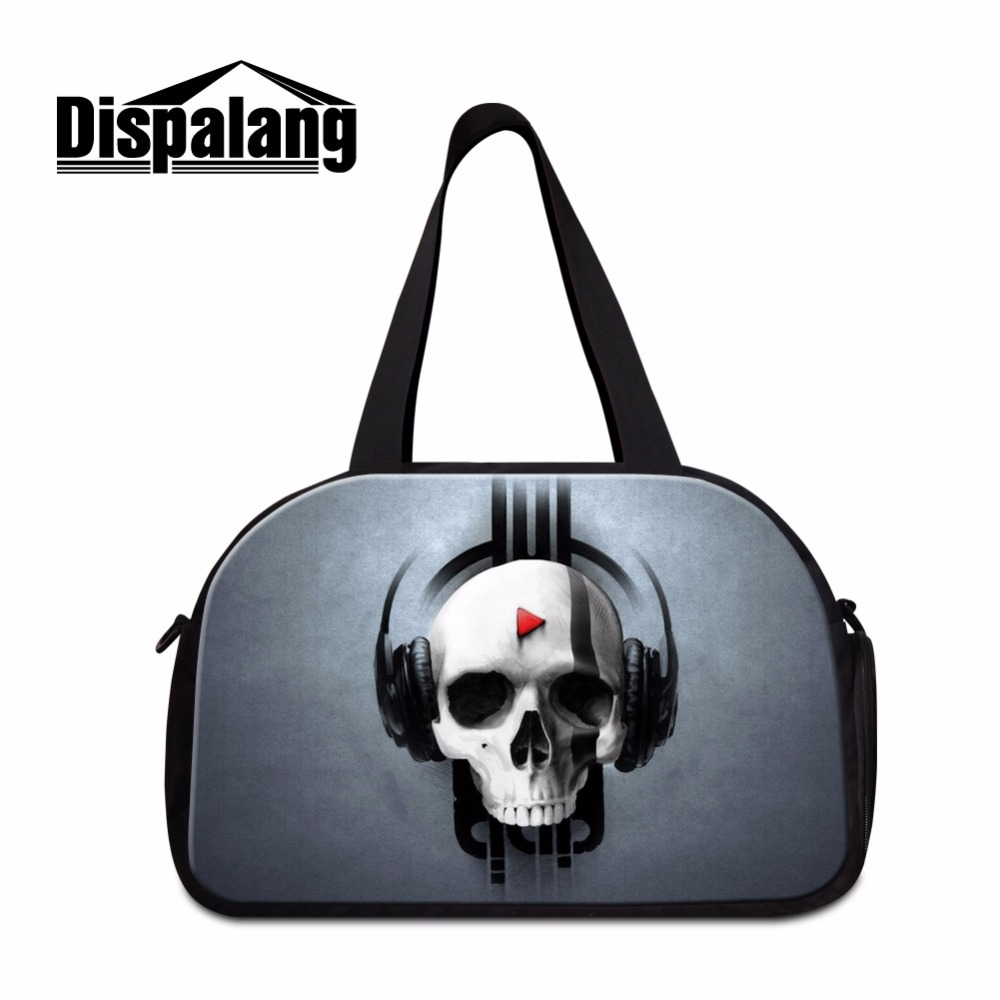 Skull sac de Sport Outdoor Gym Fitness Tote Travel bags medium sized gym bag for men