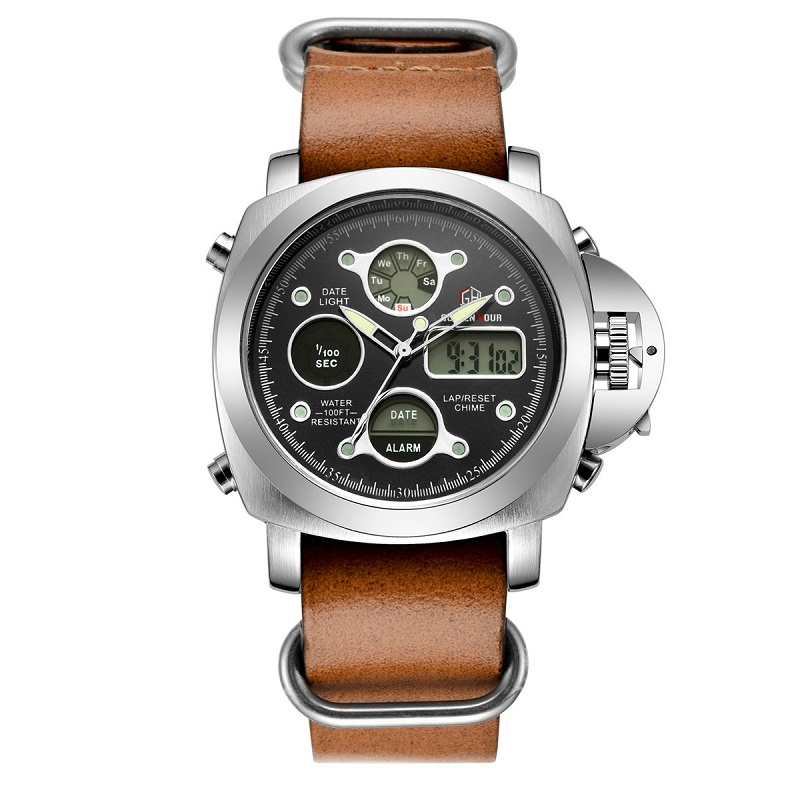 Men Fashion Wristwatche Luxury Hot Brand Shark style watch Men's Leather Strap Watch Sports Watches With High Quality Waterproof(China (Mainland))
