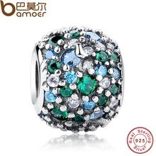 Buy GIFT Charms Fit Original Bracelet Sterling 925 Silver Ocean Mosaic Pave, Mixed Green CZ & Green Crystal Beads PAS134 for $9.52 in AliExpress store