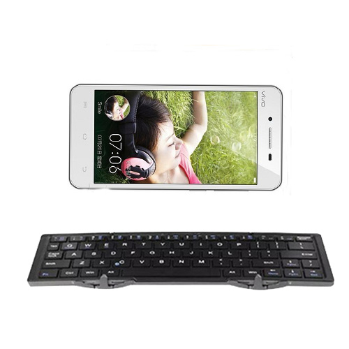 Charging Universal Wireless Bluetooth Keyboard Mini Folding Keyboard for IOS/Android for BBK vivo Y27 Y27T(China (Mainland))