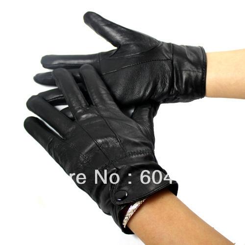 Winter Blending Sheepskin Leather Gloves Fur Cape Glove Men Women Bike MotorCycling(China (Mainland))