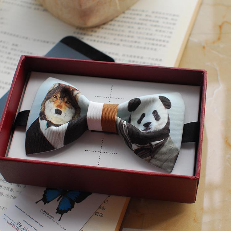 2016 mens fashion brand original designer panda bow tie wedding party neck ties boys bowties necktie noeud papillon(China (Mainland))