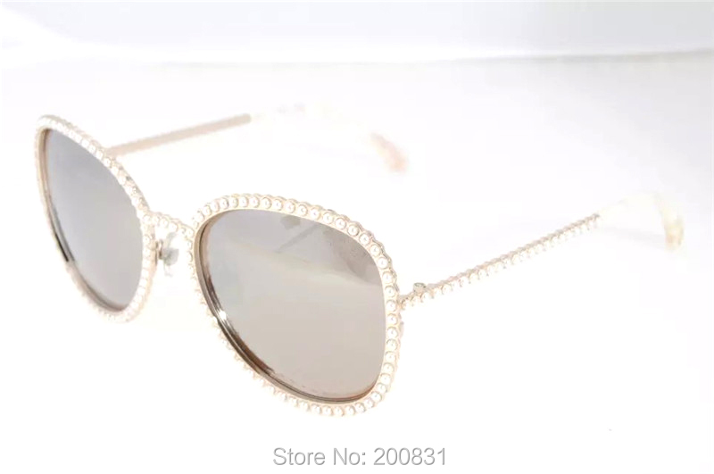 2016 New Luxury Brand Women Sunglasses With Pearl And Original Box Alloy Frame Oculos De Sol Hot Sale Oval Sun Glasses 9520Одежда и ак�е��уары<br><br><br>Aliexpress