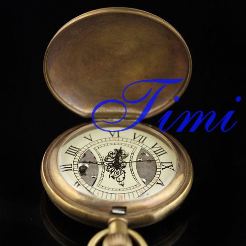 wholesale Copper antique hand winding mens pocketwatch cover new<br><br>Aliexpress