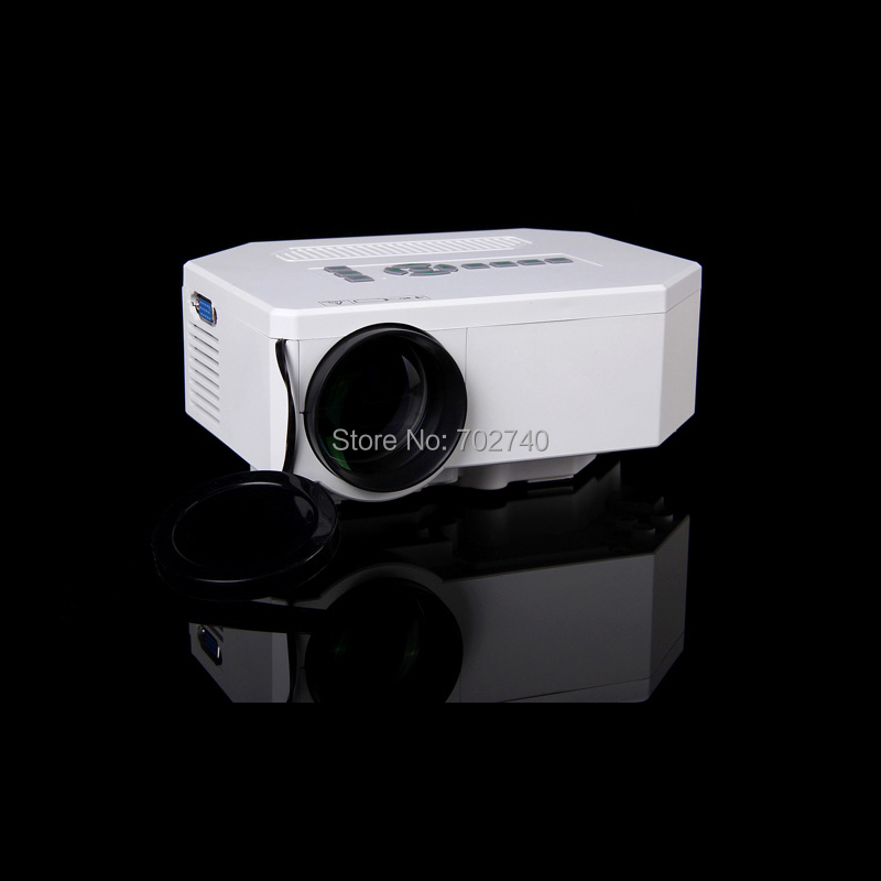 2016 New LED mini projector mini home projector with the computer VGA HDMI AV USB SD input connections Free Shipping(China (Mainland))
