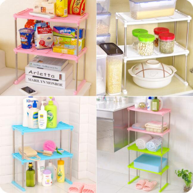 Bathroom Organizer Multifunctional Storage Rack Desktop Multi-layer Plastic Shelves Kitchen Holder