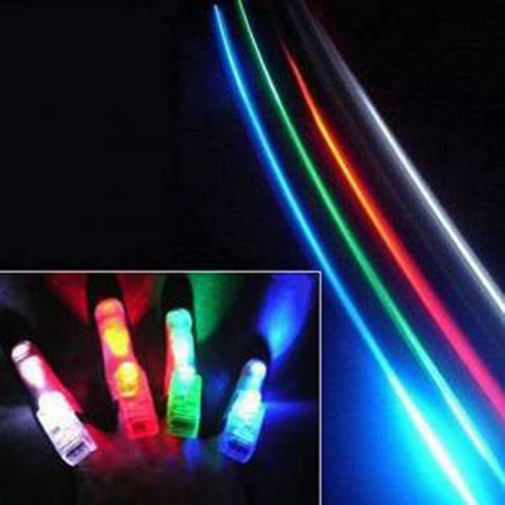 4pcs magic color lamp bright laser light finger finger ring light-emitting toys(China (Mainland))