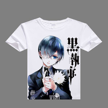 2016 anime casual tshirt Black Butler Cosplay T shirt digital printed Black Butler t-shirt men Black Butler shirt