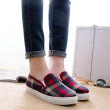 hot sale women flats shoes fashion wedge sneakers simple plaid women shoes casual shoes woman flat