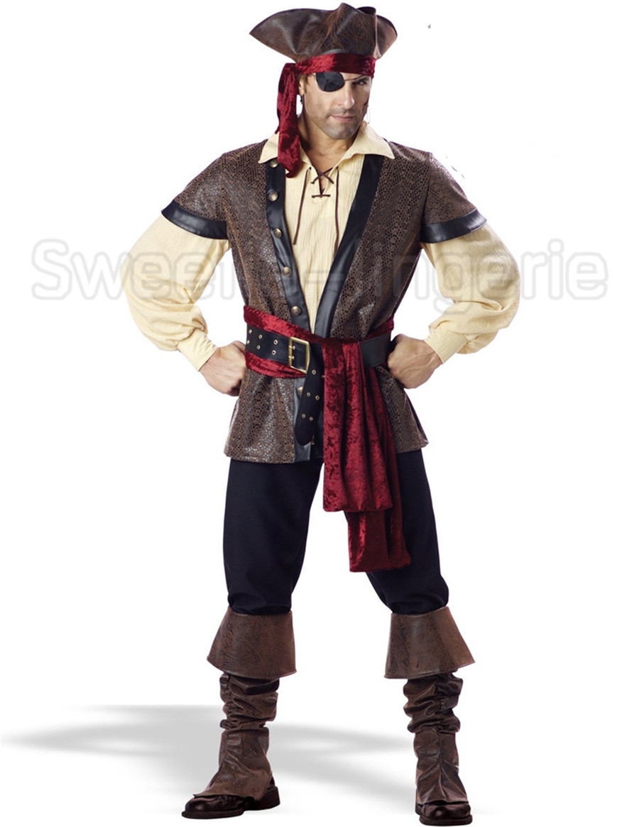 Rogue Pirate Halloween Costume Men Pirate Costume Halloween