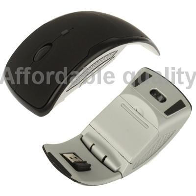 Гаджет  new arrival Wireless 2.4GHz 800-1200-1600dpi Folding Optical Mouse (Black) , free shipping None Изготовление под заказ