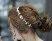 HOT Women/Girl's New fashion vintage gold plated Head wear flower headbands hair accessories wholesale HA40