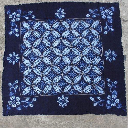 Oriental Yunnan tibet hill tribe handmade batik table cloth curtain ethnic exotic boho gypsy hmong home decoration fabric DIY(China (Mainland))
