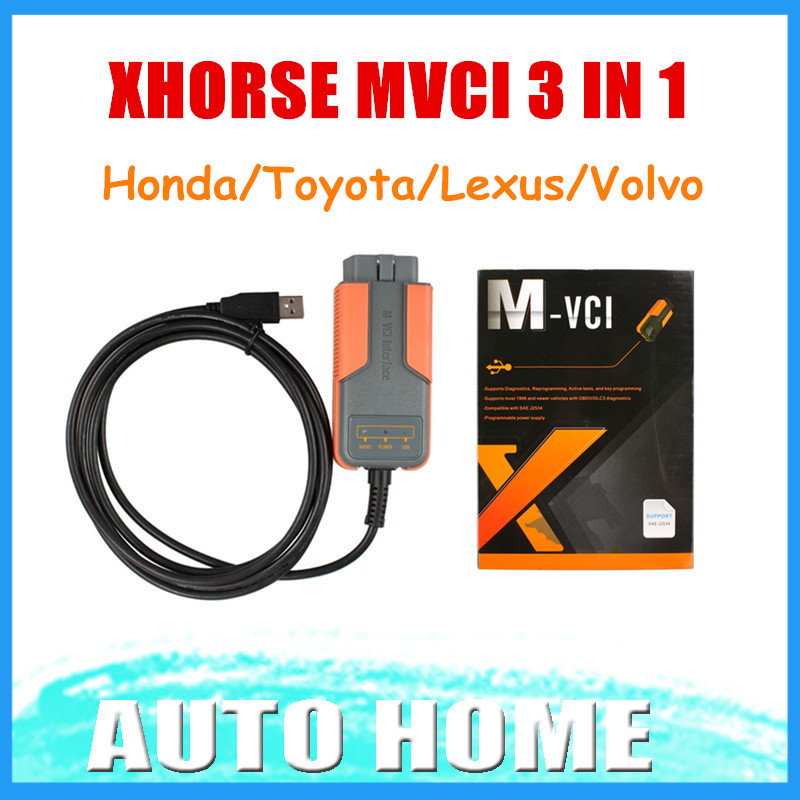 100% Original XHORSE MVCI 3 IN 1 TIS V10.30.029 For Toyota For Honda V2.018 For Volvo 2010a Fast shipping(China (Mainland))