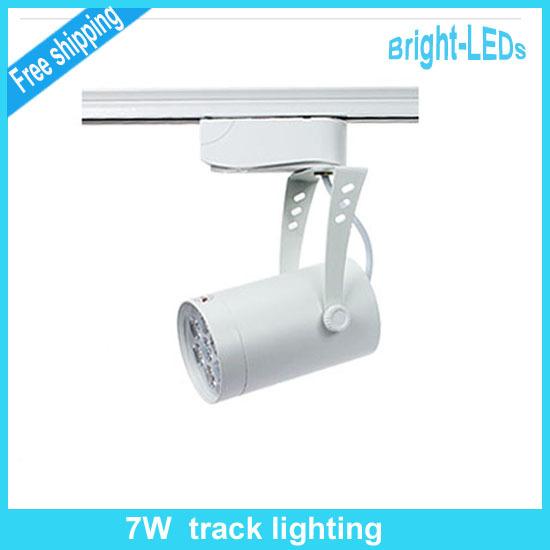 Retail Sale 7W led track lighting AC230V aluminum white and black shell rail ceiling light spotlight(China (Mainland))