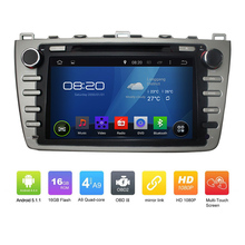 New Car Electronic auto radio audio 2din android 5.1.1 car dvd player stereo GPS Navigation For MAZDA 6 Ruiyi Ultra